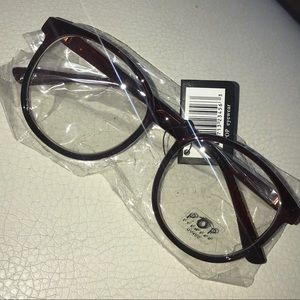 Accessories - Clark Kent Brown spec cool guy frame Glasses *NWT*